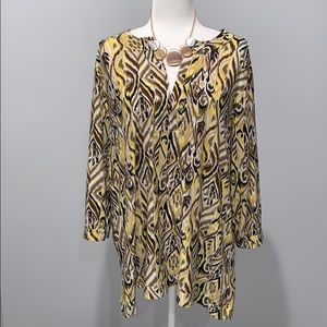 Rafaella Beautiful Multi-Color Shirt Size 3X